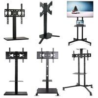 Mobile TV Cart Mount Stand Bracket Rolling Floor Mount Stand Tilt Swivel 17-70""