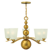 Hinkely Lighting Zelda 5lt Chandelier Vintage Brass 5 x 60W E27 220-240v 50hz