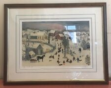 """Will Moses """" Winter Fun"""" Signed And Numbered 3/500 CO"""