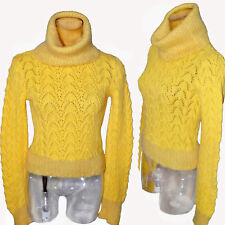 John Galliano Christian Dior Yellow cable knit Cowl neck Vintage Sweater
