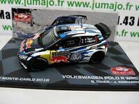 RMIT1H 1/43 IXO Rallye Monte Carlo : VOLKSWAGEN POLO R WRC 2016 OGIER winner
