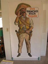 Pancho Villa Tequila 3.5 x 6 Foot Original Vintage Liquor Advertising Poster