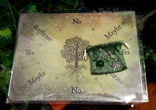 'TREE OF LIFE' PENDULUM & MAT SET Metaphysical Ritual Spiritual Pagan Altar Wica