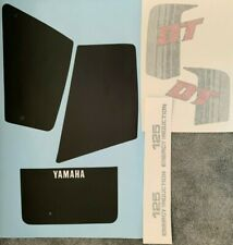 YAMAHA DT125 DT125LC PAINTWORK DECAL SET 2