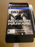 Gamestop Advertising Call Of Duty ModernWarfare Folding Display Poster Box,13x11