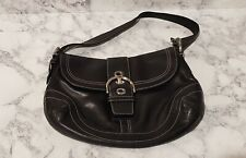 Coach Soho Hobo Black Leather Shoulder Bag F10192