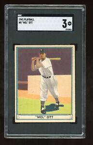 1941 Play Ball #8 Mel Ott SGC 3 New York Giants