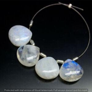 Rainbow Moonstone Smooth Heart Drop Shape Briolette Loose Gemstone 14mm NN-1837