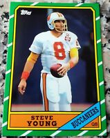 STEVE YOUNG 1986 Topps Rookie Card RC 49ers 3 Superbowl Rings 2012 Reprint HOF