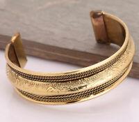 Unisex Magnetic heilende tibetische Schmerzlinderung Armreif Kupfer Armband