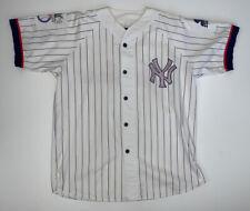 Vintage Starter New York Yankees Pinstripe Baseball Jersey Size Large 90's MLB