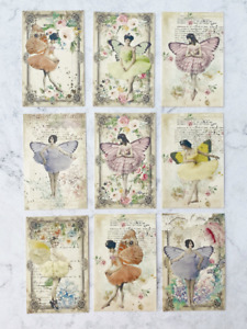 Vintage Style Fairy Card Toppers, Spring Summer Gift Tags Craft Make Your Own