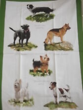 Dog Breeds Tea Towel