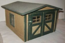 Old Wooden Garage w/ Glass Window Panes for Christmas Putz Village or Dollhouse