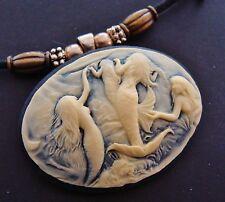 Mermaids Cameo - Sea Nymphs Nudes Pendant Jewelry Art Nouveau Victorian style