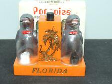 Porpoise Salt and Pepper push button Original Box Florida (15953)