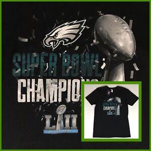 Men's Philadelphia EAGLES Super Bowl CHAMPIONS Officially Licensed Tee-Shirt Lg.