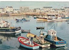 QUIBERON port-maria et ses bateaux de pêche timbrée 1975