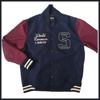 Staple Pigeon Letterman Varsity Jacket | Medium | Navy Blue/Burgundy