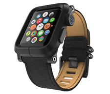 LUNATIK - EPIK Case and Canvas Band for Apple Watch™ 42mm, Black EPIK-006