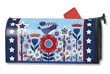 Freedom Fence Patriotic Magnetic Mailbox Cover Primitive MailWraps Standard