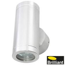 Silver Aluminium Up/Down Exterior Wall Light - 2x20W MR16 12V Low Voltage Vista
