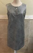 OCHNIK Womans Faux Leather Green Snake Print Shift Dress size small NWT