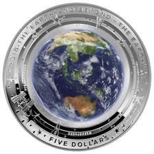 Australien 5 Dollar 2018 - Earth and Beyond - Erde (1.) Gewölbt - 1 Oz Silber PP