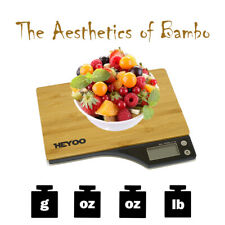 Bamboo style digital kitchen scale max weight 11 lbs for cooking and baking