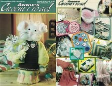 Annie's Crochet to Go Magazine #115 Doll Christening Gown, Mama Baby Bunny Dolls