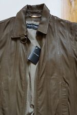 New men Dolce & Gabbana Lanvin olive leather jacket coat SZ 50 M Barneys Saks