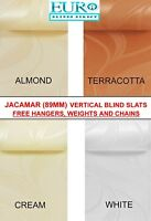 """JACAMAR MADE TO MEASURE VERTICAL BLINDS REPLACEMENT LOUVRES SLATS  89mm (3.5"""")"""