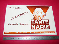 BUVARD PATES ALIMENTAIRES TANTE MARIE  1950-1960