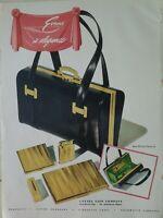 1948 Evans women's handbag purse compact cigarette case lighter vintage ad