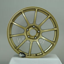 ROTA WHEEL G FORCE 18X8.5  5x114.3 48 73 GOLD  WRX IMPREZA FORESTER LAST SET