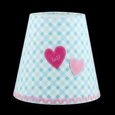 Lampenschirm Lief! Kinderzimmer Tischlampen Schirm Karo Herz Rosa Mint Stoff