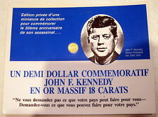 MEDAILLE John Fitzgerald  KENNEDY OR - 9 mm 0,20 g 18 Carats