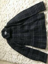 Marks and Spencer black tweed style wool / silk blend short coat / blazer size 8