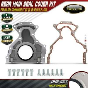 Rear Main Oil Seal & Plate & Gasket for Holden Commodore VT VX VY VZ VE LS1 LS2