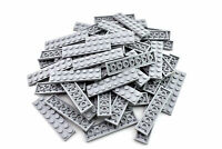 Light Bluish Gray Plate 2 x 8 - TCM Compatible Bricks - QTY: 50 Pieces