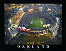 Oakland Raiders Football COLISEUM CLASSIC Stadium Aerial View Poster Print