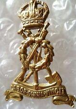 Badge- WW1 Royal Pioneer Corps Labor Omnia Vincit Cap Badge KC (BRASS) 2 Lugs
