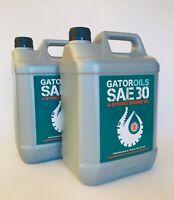 2 x 5 Litre Gator SAE 30 4 Stroke Lawnmower Oil Briggs & Stratton, Honda etc