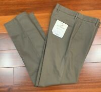 Men's NWT Docker's 32x34 Gray Best Pressed Signature Khakis Pants Straight fit