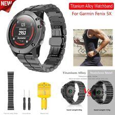 Men's Luxury Titanium Alloy Wirstband Watchstrap Watchband For Garmin Fenix 5X