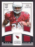 2013 National Treasures NFL Gear Quad Jersey #2 Andre Ellington /99 Cardinals