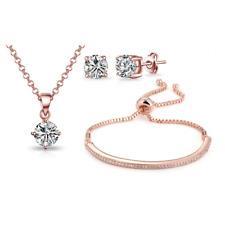 Philip Jones Rose Gold Friendship Set Created With Austrian Crystals
