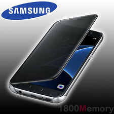 Genuine Samsung Galaxy S7 Clear View Cover - Black