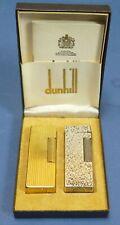 2 Dunhill Feuerzeuge - vergoldet - versilbert - 1 x defekt - #16450