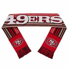 San Francisco 49ers Scarf Knit Winter Neck - Double Sided Glitter Stripe 2016